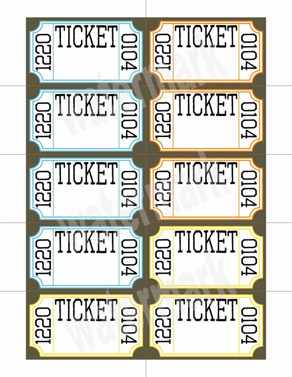 Printable Raffle Tickets Pdf Fresh Ticket Raffle Templates On Google Google Search