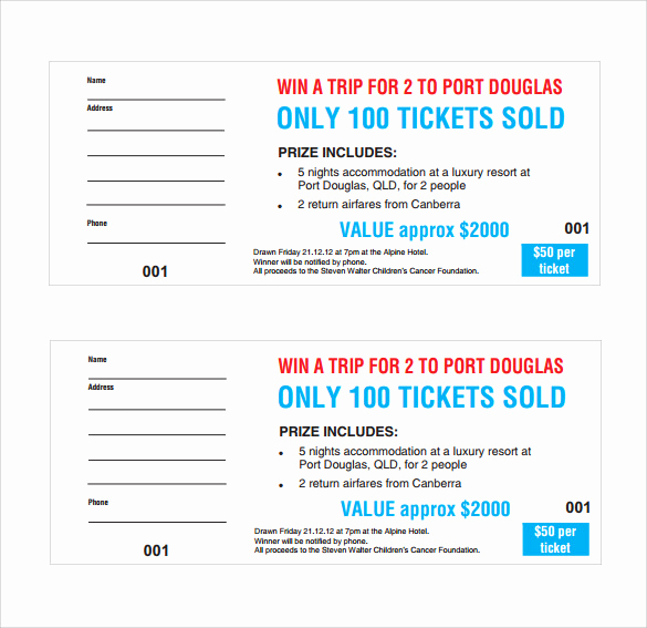 Printable Raffle Tickets Pdf Lovely 31 Raffle Ticket Templates Pdf Psd Word Indesign