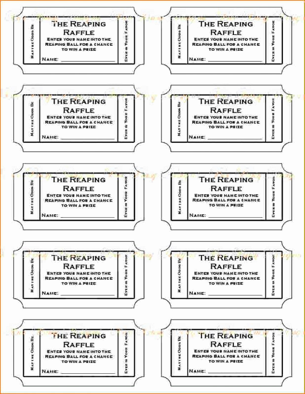 Printable Raffle Tickets Pdf Lovely Free Printable Raffle Tickets
