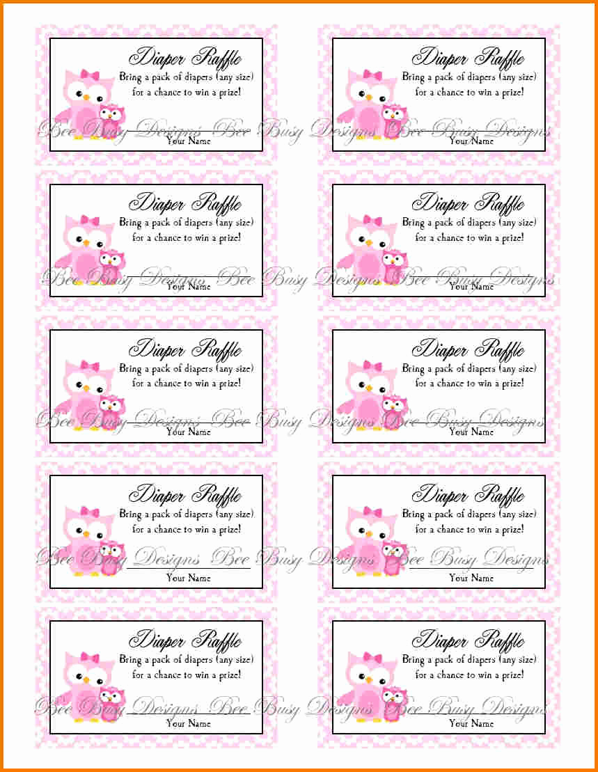 Printable Raffle Tickets Pdf Unique Free Printable Raffle Ticket Template