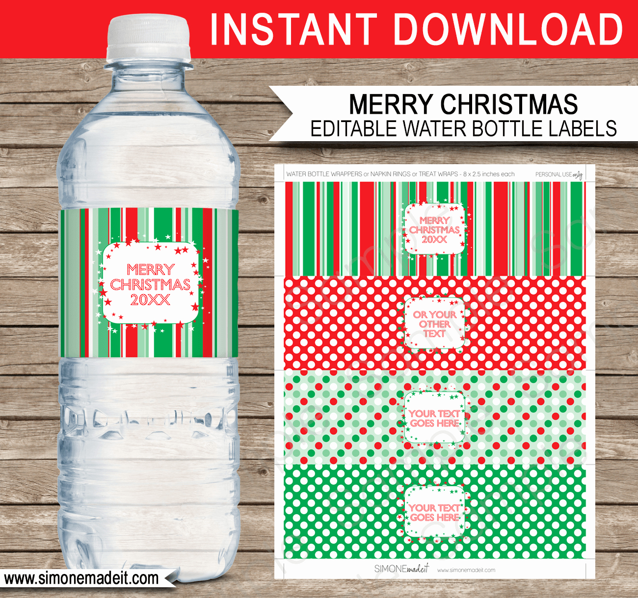 Printable Water Bottle Labels Awesome Printable Christmas Water Bottle Labels Template