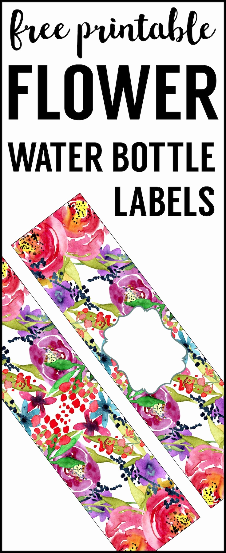 Printable Water Bottle Labels Beautiful Spring Water Bottle Labels Free Printable Paper Trail Design