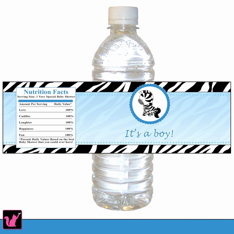 Printable Water Bottle Labels Beautiful Zebra Bottle Label Zebra Baby Shower Bottle Label Printable