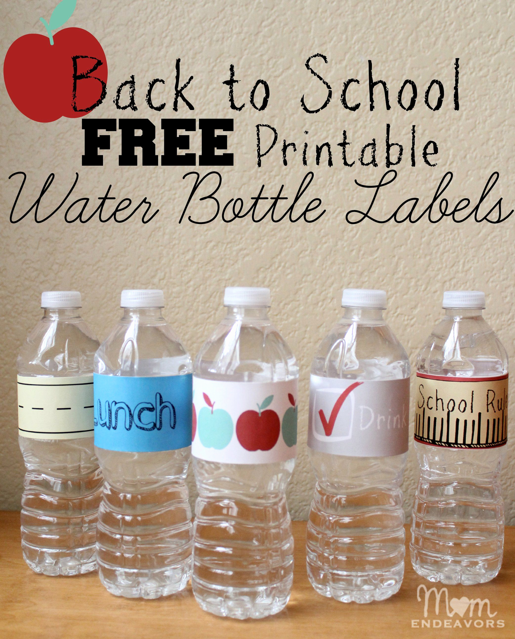 Printable Water Bottle Labels Best Of Easy & Fun Drink Ideas for School Lunches with Free