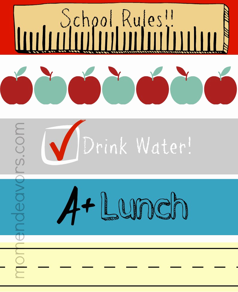 Printable Water Bottle Labels Inspirational Convenient & Fun Drinks for Back to School Lunches with