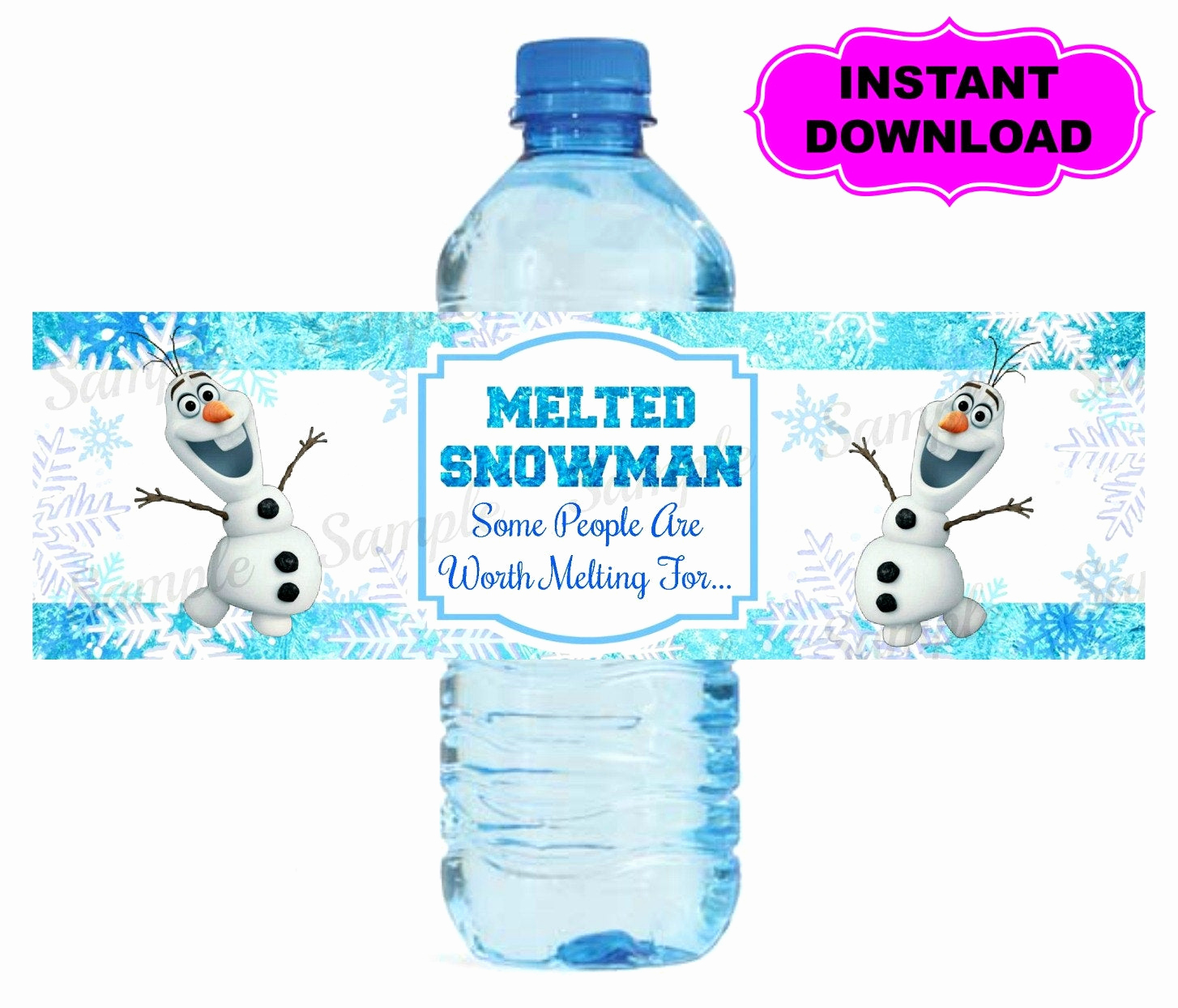 Printable Water Bottle Labels Inspirational Frozen Water Bottle Label Printable Digital by Kidspartypixel