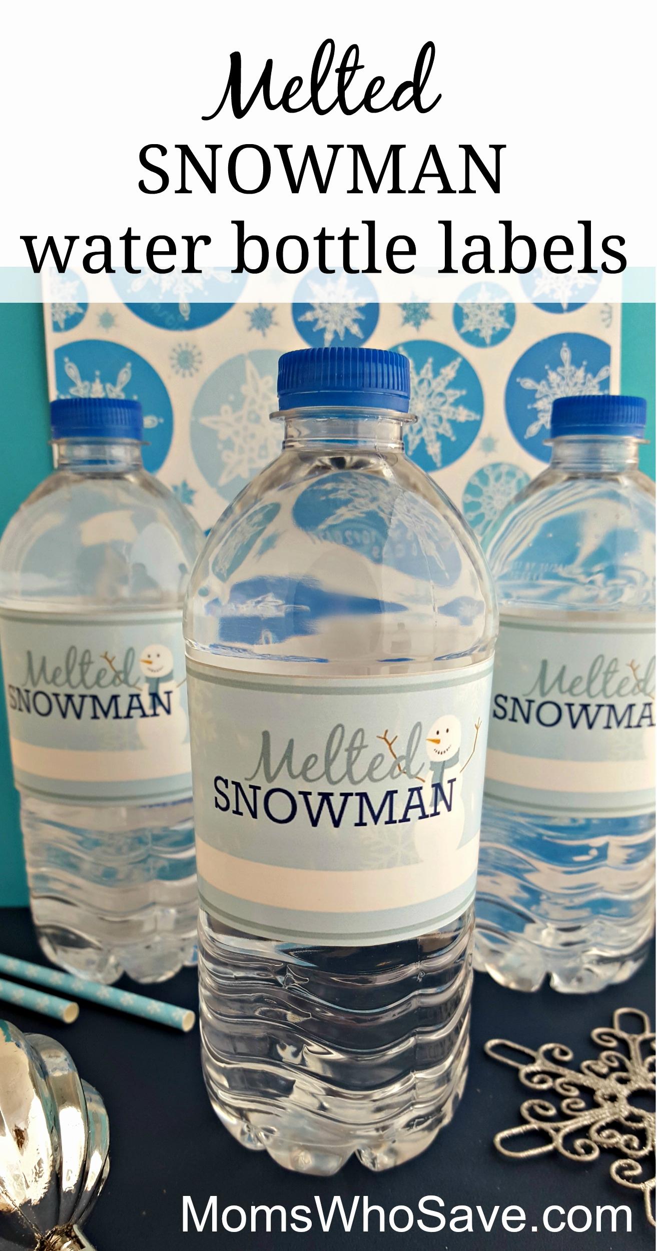 Printable Water Bottle Labels Lovely Easy Diy Free Printable Melted Snowman Water Bottle