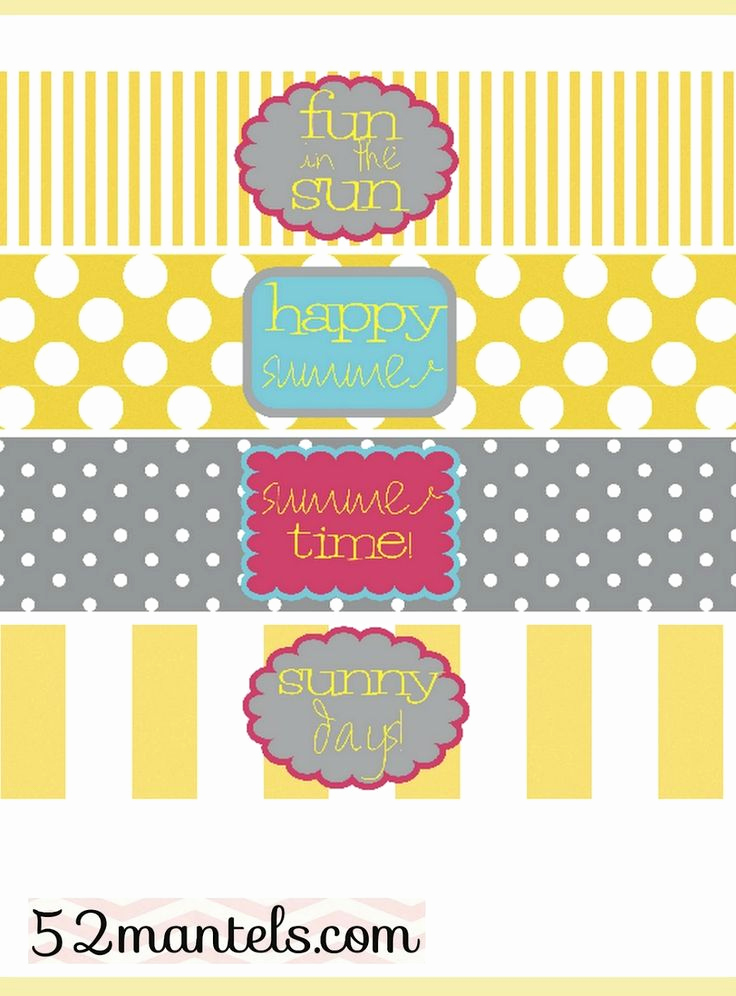 Printable Water Bottle Labels Luxury Free Water Bottle Labels for A Summer Party