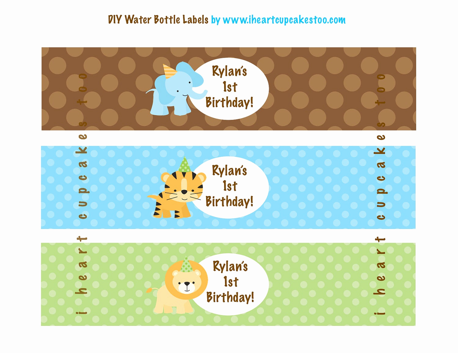 Printable Water Bottle Labels New Printable Jungle Safari Water Bottle Labels