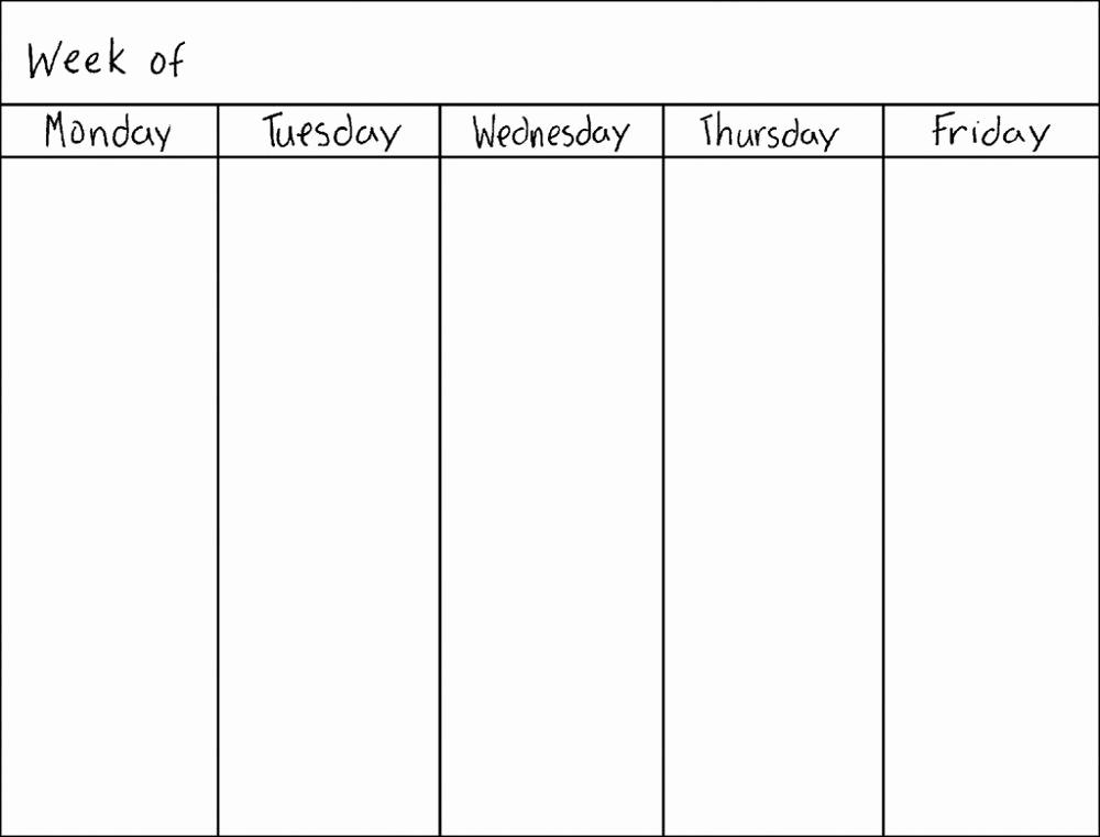 Printable Weekly Planner Template Awesome Blank Weekly Calendars Printable
