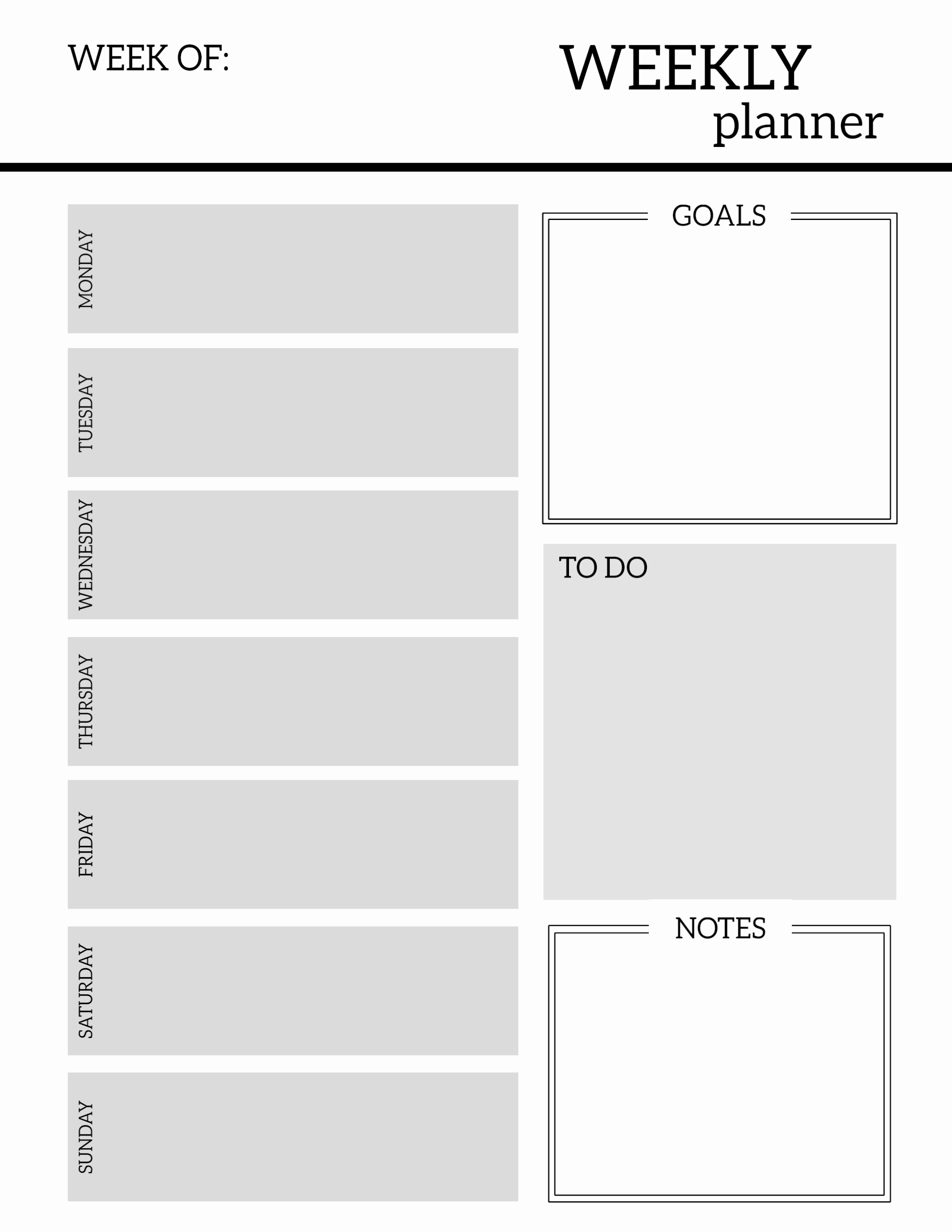 Printable Weekly Planner Template Awesome Free Printable Weekly Planner Pages Paper Trail Design