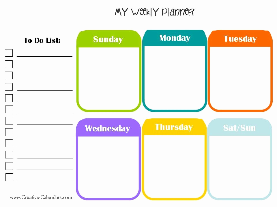 Printable Weekly Planner Template Best Of 10 Weekly Planner Templates Word Excel Pdf formats
