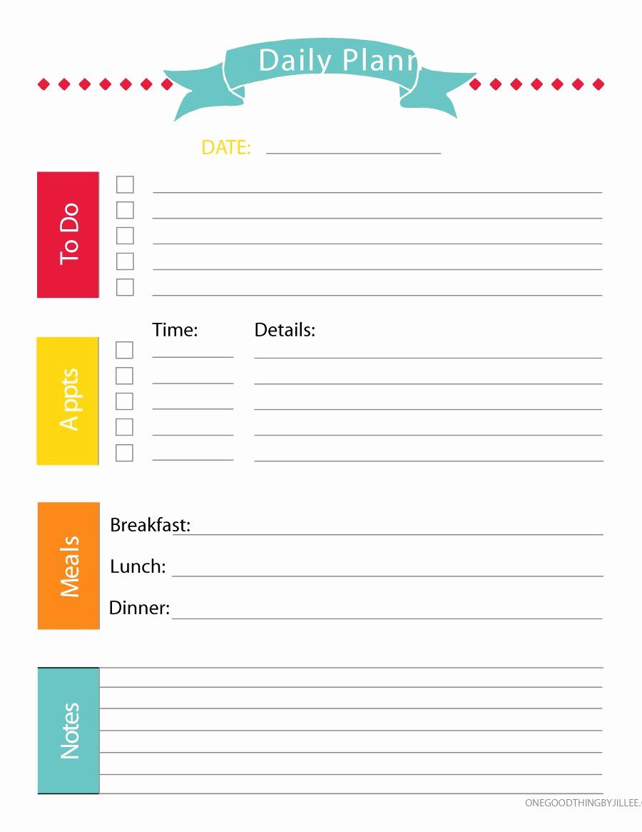 Printable Weekly Planner Template Elegant 40 Printable Daily Planner Templates Free Template Lab