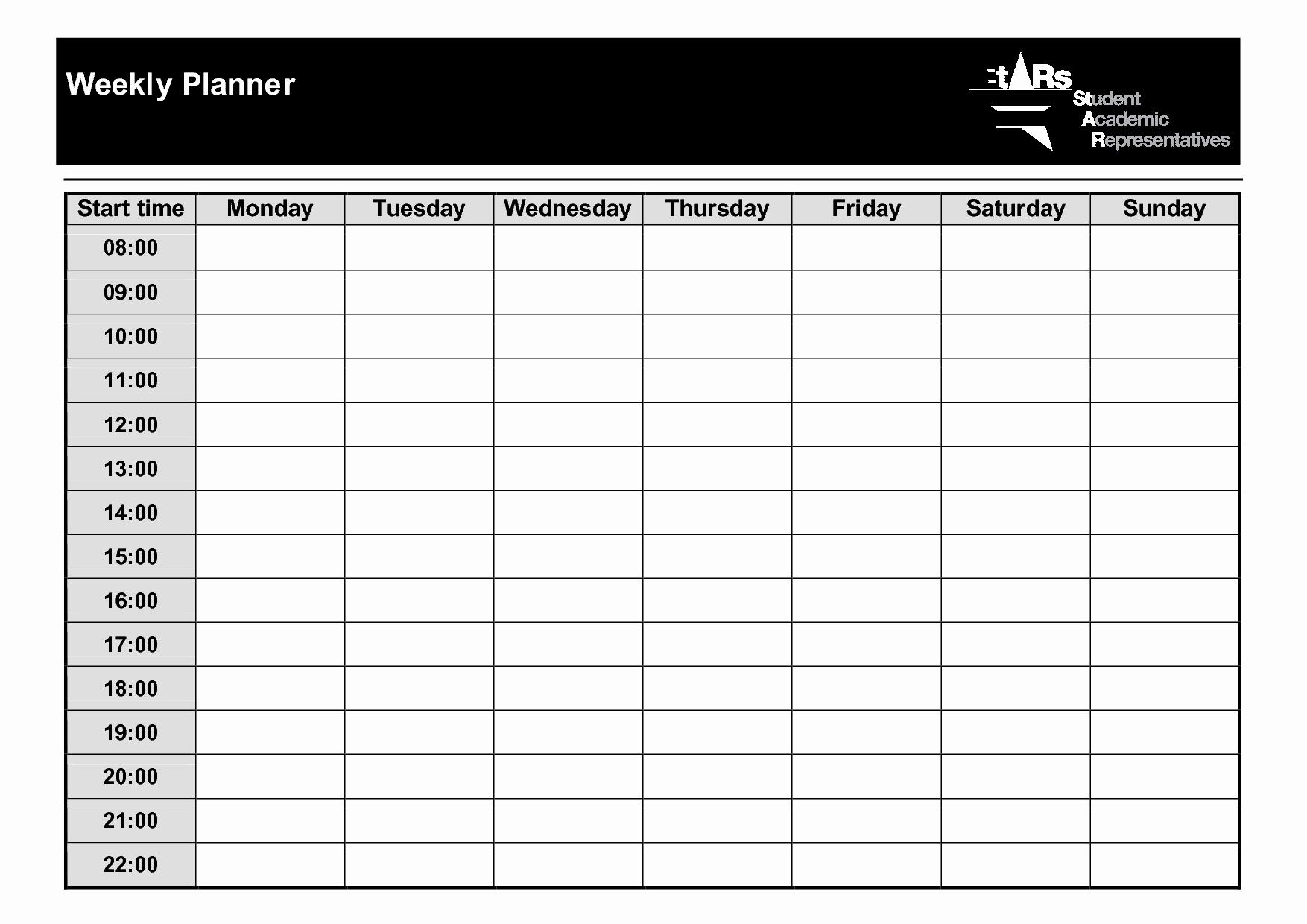 Printable Weekly Planner Template Inspirational 9 Best Of Weekly Planner Printable Pdf Weekly