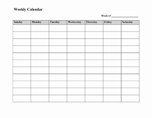 Printable Weekly Planner Template New Best 25 Weekly Calendar Ideas On Pinterest