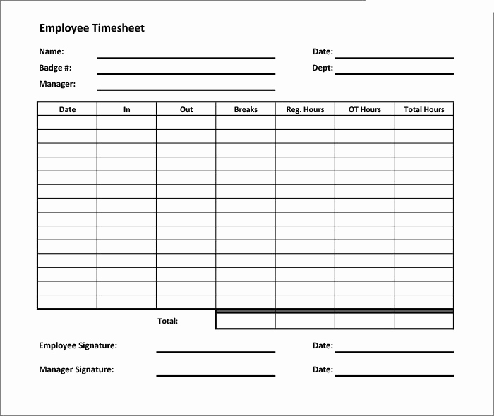 Printable Weekly Time Sheets Awesome 60 Sample Timesheet Templates Pdf Doc Excel