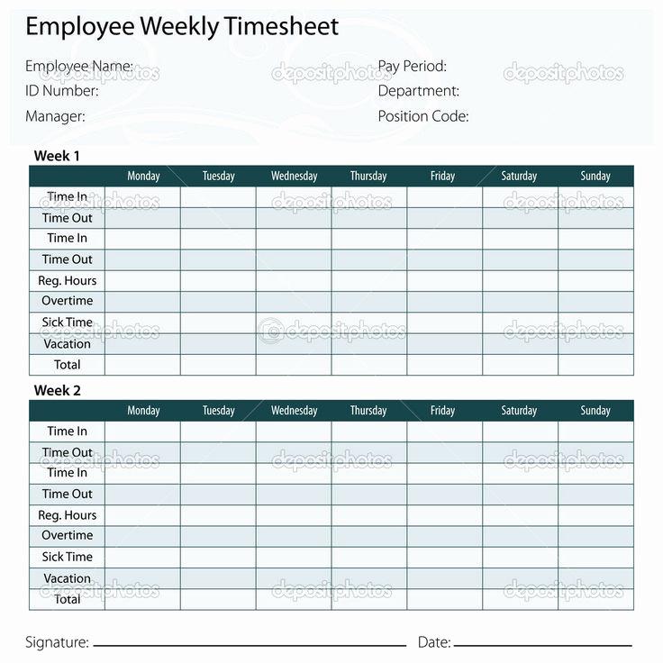 Printable Weekly Time Sheets Awesome Free Printable Timesheet Templates