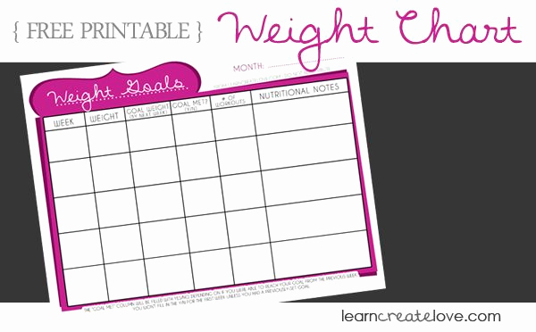 Printable Weight Loss Chart Elegant Cute Weight Loss Charts Google Search