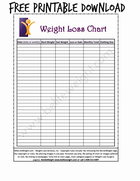 Printable Weight Loss Chart Lovely Best 25 Weight Loss Chart Ideas On Pinterest