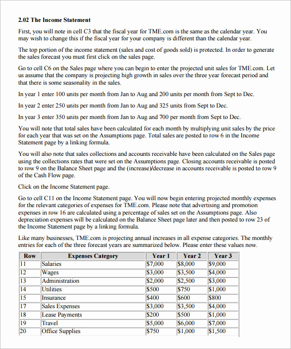 Pro forma Income Statement Example Best Of 10 Proforma In E Statement Templates to Download