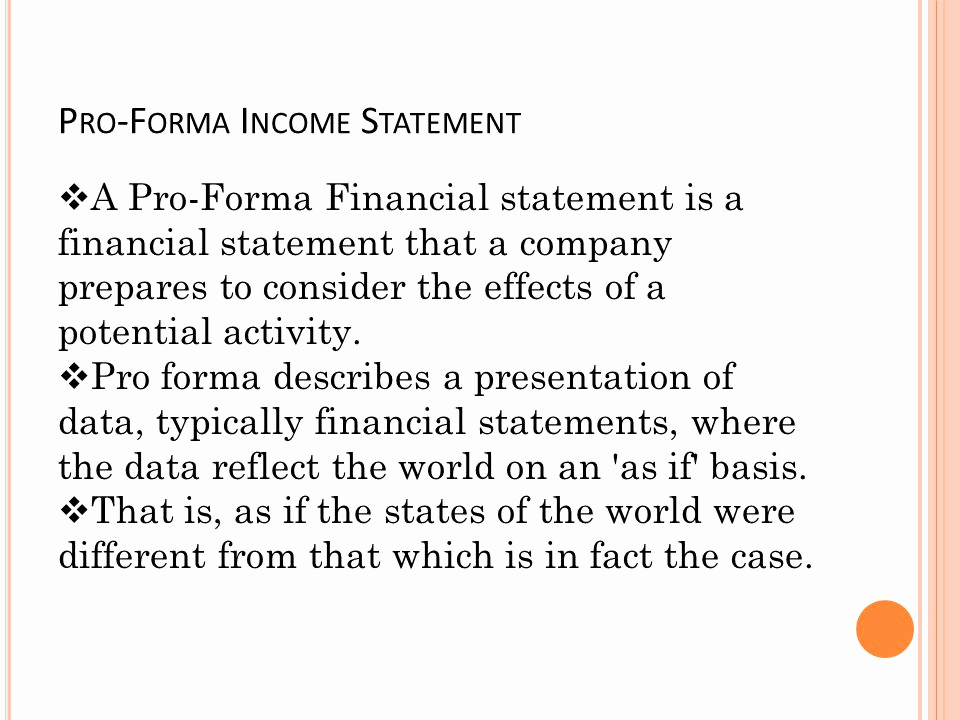 Pro forma Income Statement Example Elegant Papa Geo's Restaurant Bud Proposal for Ppt Video