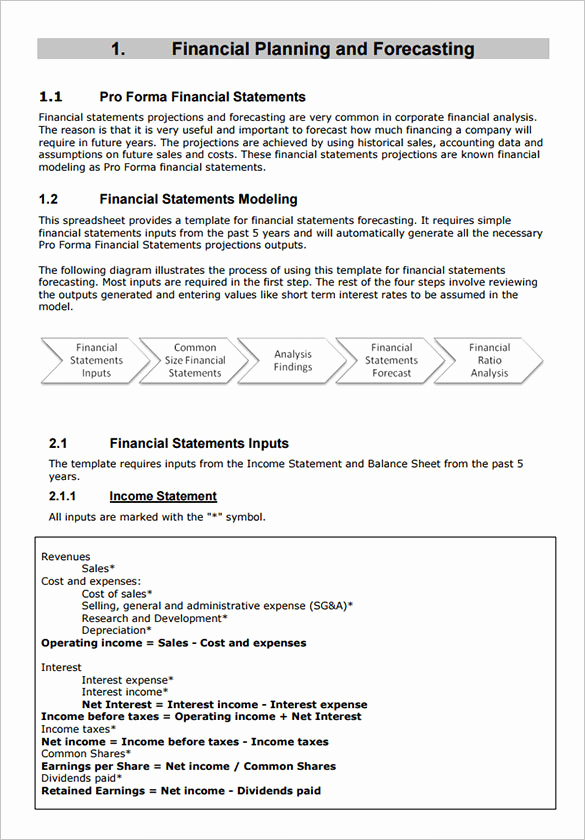proforma in e statement template