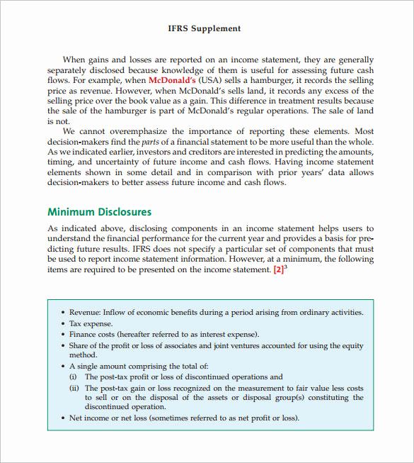Pro forma Income Statement Example Unique 10 Proforma In E Statement Templates to Download