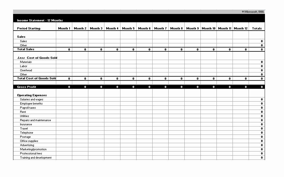 Pro forma Income Statement Template Awesome 27 Free In E Statement Examples & Templates Single