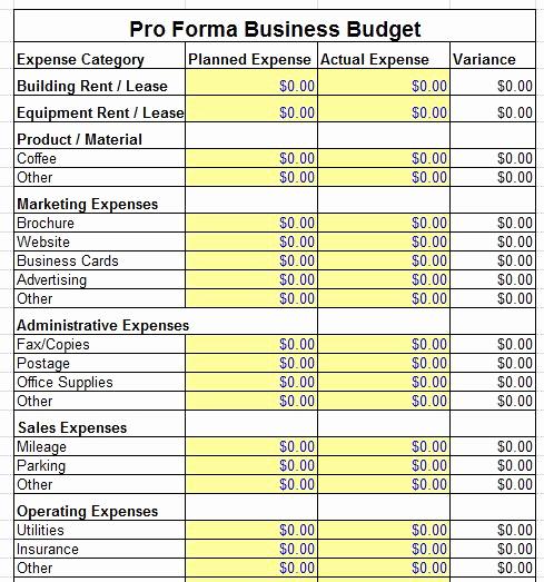 Pro forma Income Statement Template Elegant Proforma Balance Sheet Template