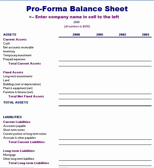 Pro forma Income Statement Template Lovely Proforma Balance Sheet Template