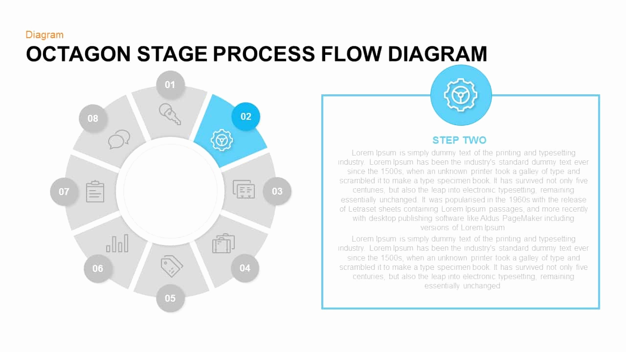 Process Flow Chart Template Awesome Octagon Stage Process Flow Powerpoint and Keynote Template