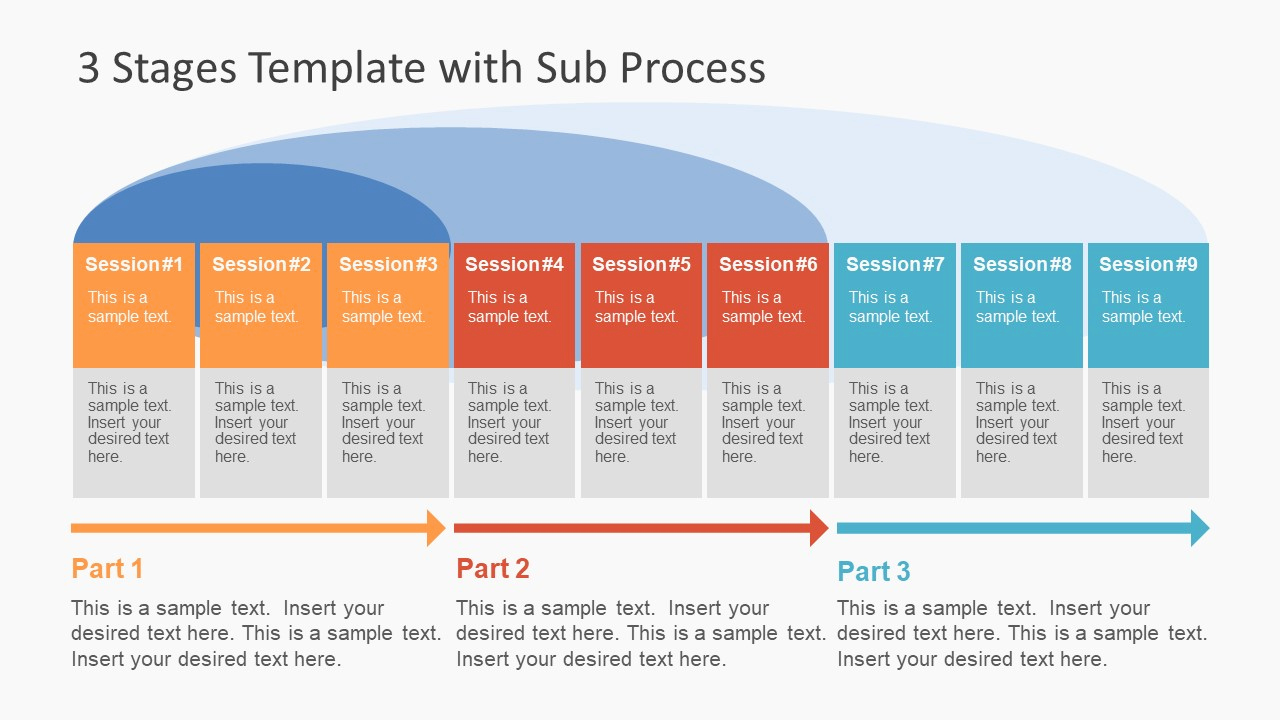 Process Flow Chart Templates Best Of 3 Stages Template with Sub Process Slidemodel