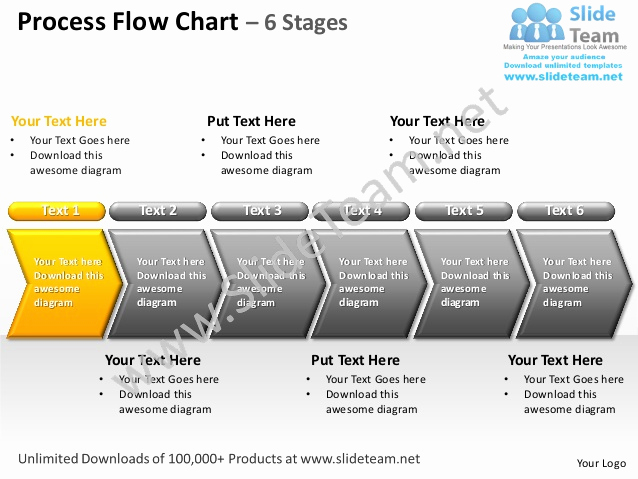 Process Flow Chart Templates Best Of Process Flow Chart 6 Stages Powerpoint Templates 0712