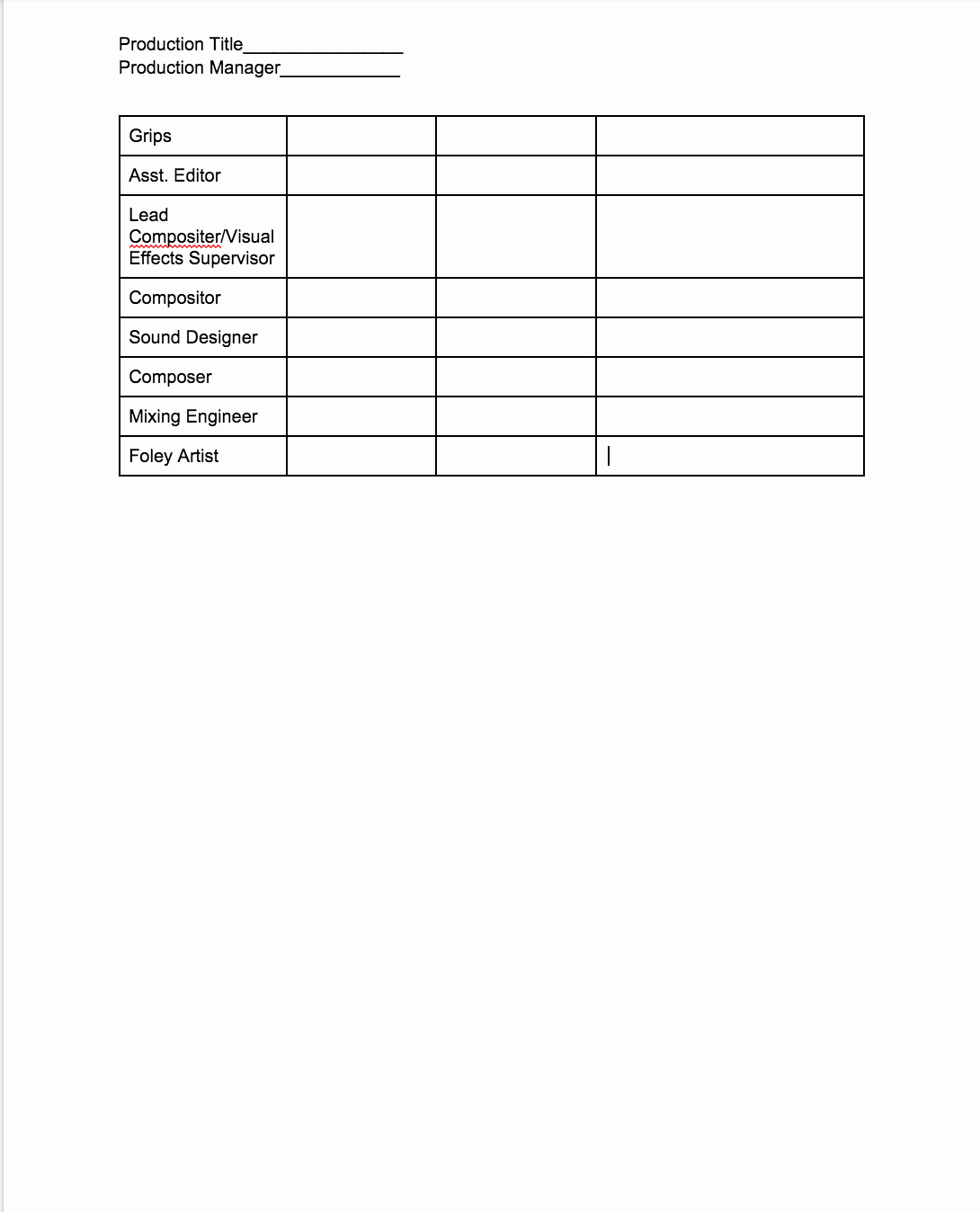 Product order form Template Unique Production Book
