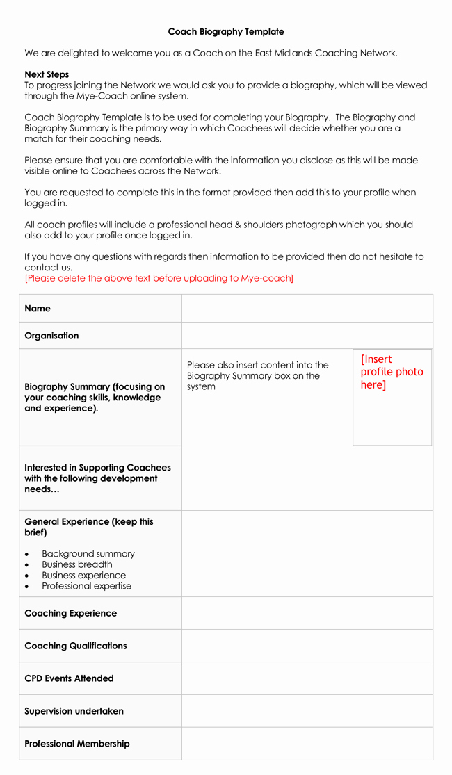 Professional Bio Template Word Awesome 38 Biography Templates with Download In Word & Pdf