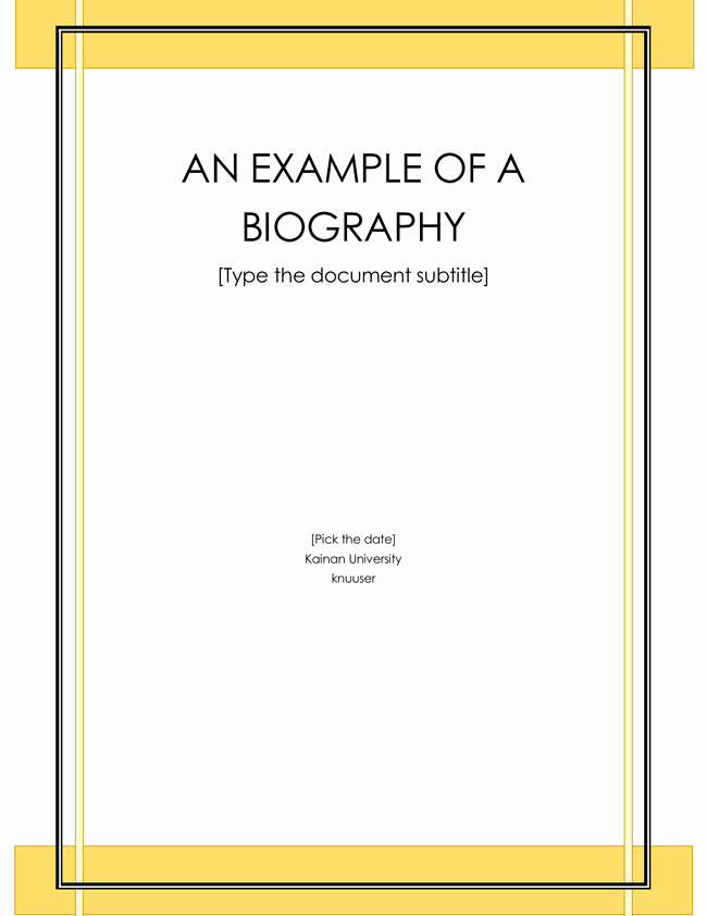 Professional Bio Template Word Inspirational 38 Biography Templates with Download In Word & Pdf