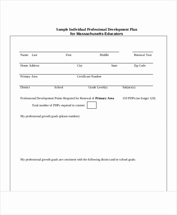 Professional Development Plan Sample Awesome Professional Development Plan Sample 13 Examples In