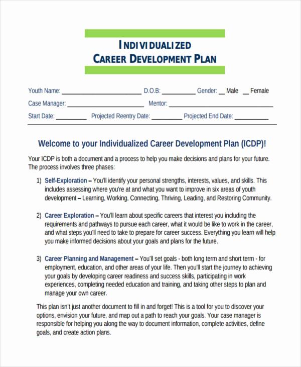 Professional Development Plan Sample Best Of 58 Development Plan Examples & Samples Pdf Word Pages