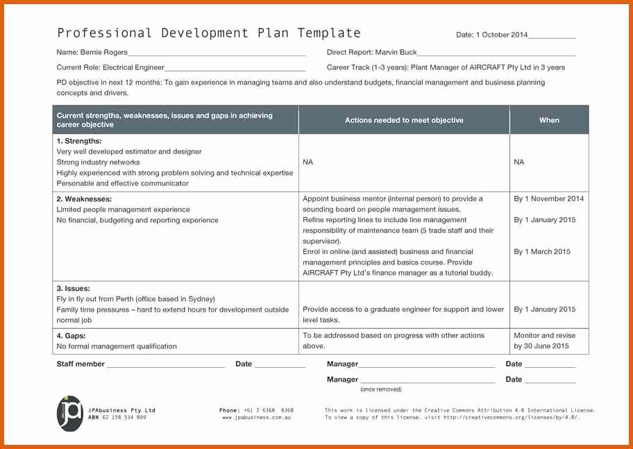 Professional Development Plan Sample New 6 7 Career Plan Template