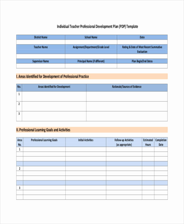 Professional Development Plan Template Elegant 39 Development Plan Samples Pdf Word