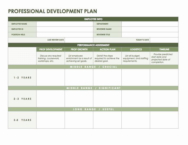 Professional Development Plan Template Fresh Free Microsoft Fice Templates Smartsheet