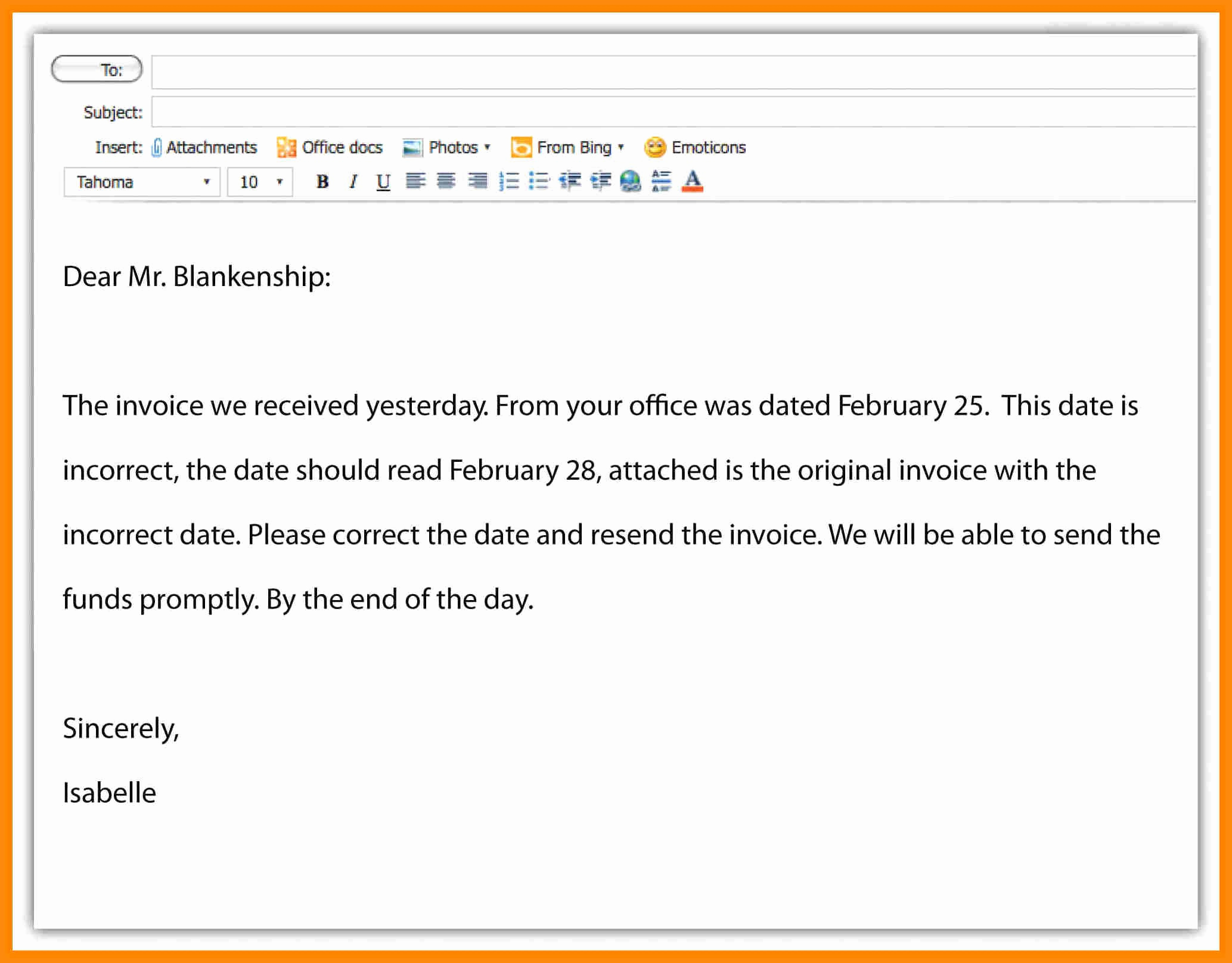 Professional E Mail Template Elegant Email Writing Examples