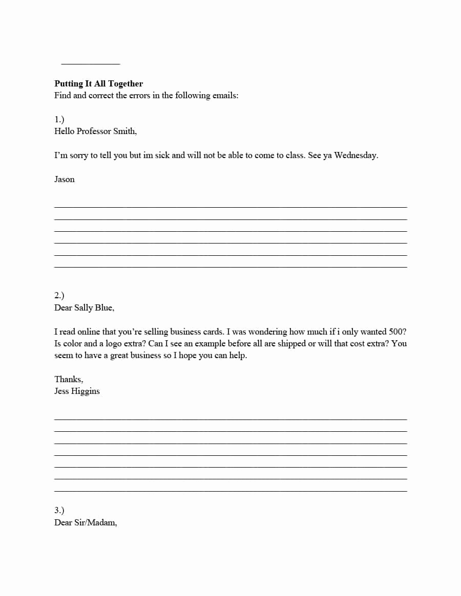 Professional E Mail Template Inspirational 30 Professional Email Examples & format Templates