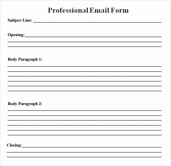 Professional E Mail Templates Lovely 8 Sample Professional Emails Pdf