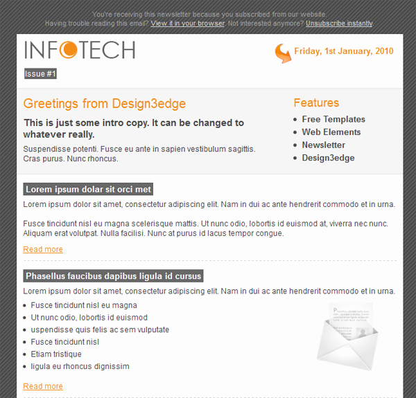 Professional E Mail Templates Lovely Professional Free Email Template