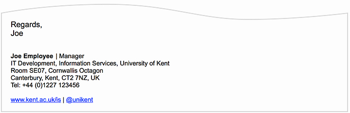 Professional Email Signature Student Awesome Email Signature University Of Kent