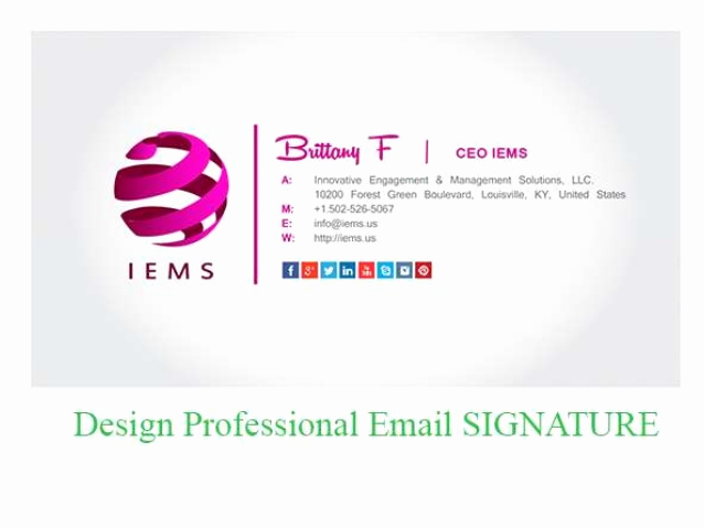 Professional Email Signature Student Lovely How to Create Best HTML Email Signature