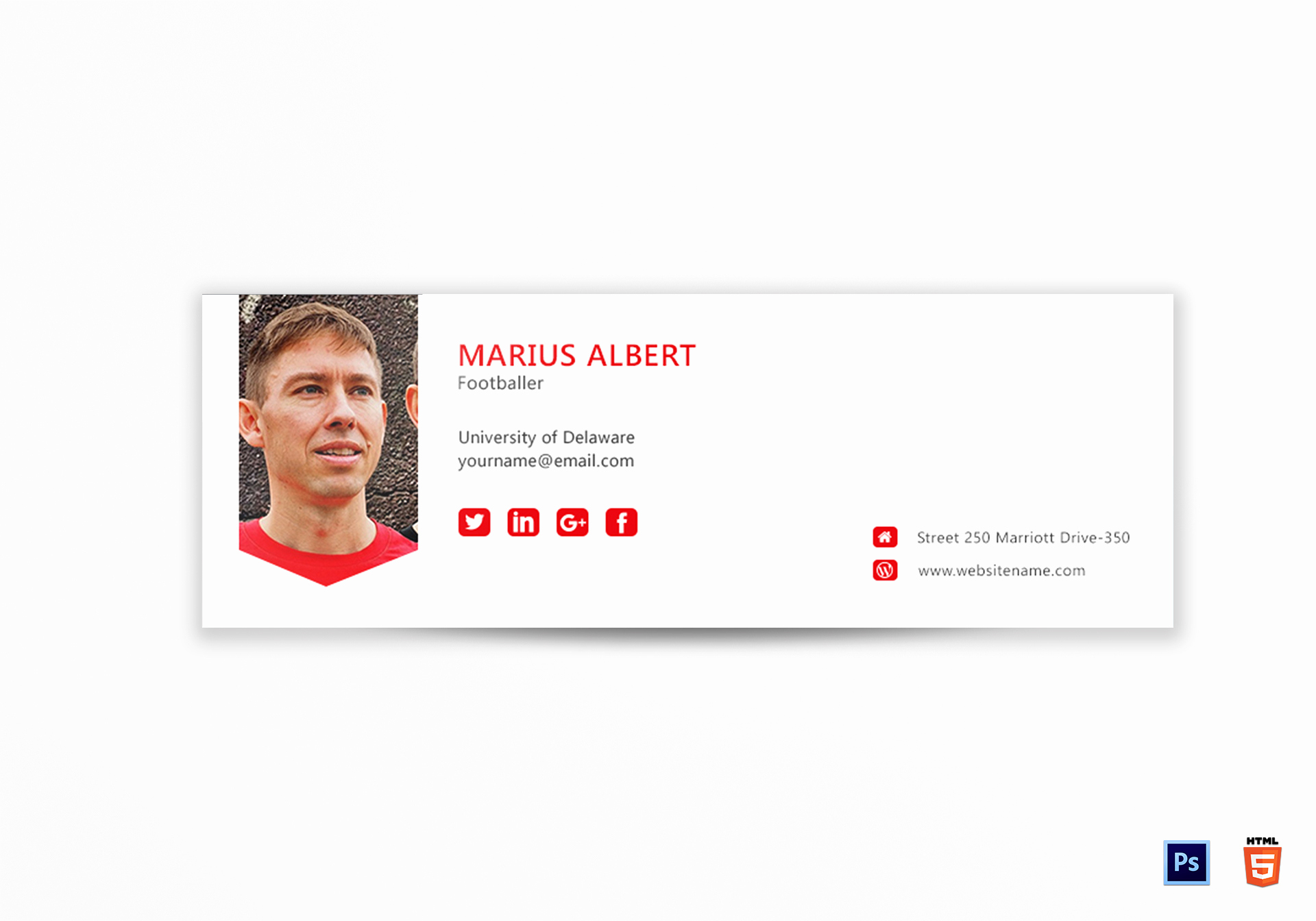 Professional Email Signature Student New Professional Email Signature Design Template In Psd HTML