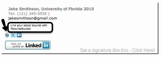 Professional Email Signature Student New Resumebucket
