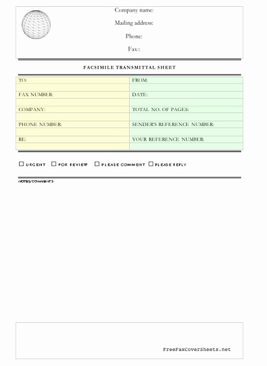Professional Fax Cover Sheet Lovely Professional Fax Cover Sheet Fax Cover Sheet at